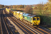 23rd Nov 06:  66551 brings a loaded HOBC bound for Reading Yard