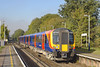 6th Nov 06:  A SWT Desiro calls at Addlestone, the penultimate stop on the journey from Waterloo to Weybridge