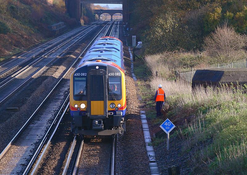29th Nov 06:  450082 on a Waterloo to Basingstoke