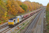 28th Nov 06: 60055 leads 6C23 Hayes to East Usk empty hoppers towards the station