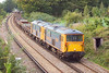7th Oct 06:  73206/73209 head 6G14 loaded with old track panels from Wraysbury to Eastleigh