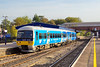 """7th Oct 06:  165136 still sporting """"Back the Bid"""" vynils leaves platform 4 at Twyford for Henley. The service had come from Reading."""