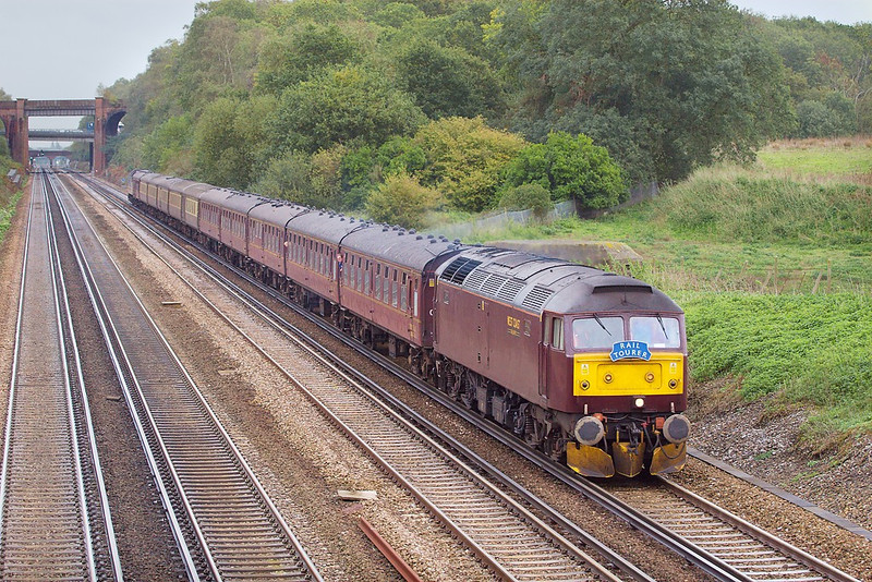 25th Oct 06:  47854 At Totters Lane with today's (25th October) charter from Lincoln to Salisbury