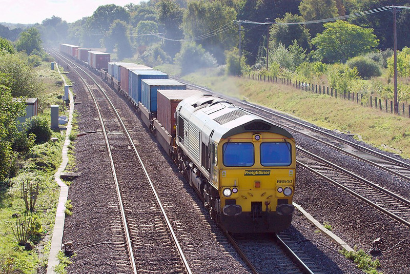 3rd Oct 06:  66540 taking 4M55 from Southampton Millbrook to Leeds