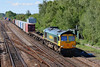 25th Aug 06:  66572 storms through  with the4M58 to Ditton