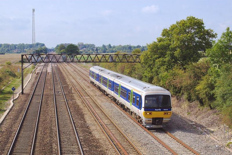 15th Sep 06:  165113 passes the old up loop at Milley Bridge