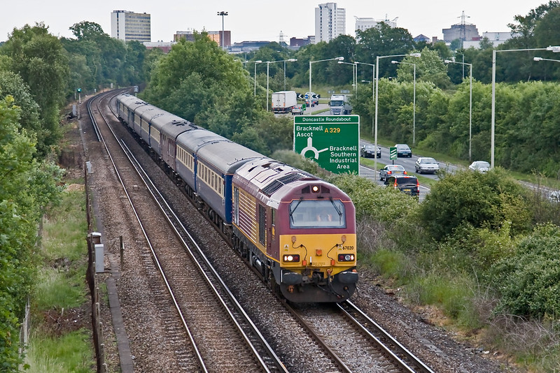 17th Jun 08: Also leaving early was 67020 on the return 6Z68 to Manchester Victoria