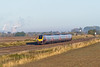 9th Oct 08:  Nearly an hour after sunrise a Voyager on the Up Main with Didcot power station in the distance