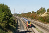 9th Oct 08: An old livery Voyager accelerates towards the bridge in Sands Rd, South Moreton