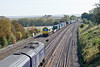 9th Oct 09:  My view of 66591 working 4E44 to Leeds is about to be snookered