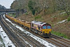 6th Apr 08:  Too much talking caused the gallery to miss the approach of the spent ballast train.  66139 was at the head.