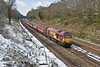 6th Apr 08:  The snow has almost melted as 67003 brings the late running 2nd Footex swiftly through