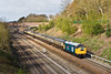 12th Apr 08:  The 'East Anglian' from Birmingham New Street to Lowestoft in the hands of 40145 at Ruscombe