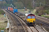 8th Apr 08:  The Birch Coppice Intermodal with 66098 in charge