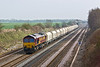 4th Apr 08:  66039 with the EWS hoppers heads for Morton on Lugg