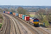 1st Apr 08:  The 12.17 Intermodal from Washwood Heath (4O21) trusted to 66146 at Lower Purley
