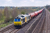 8th Apr 08:  Tug 60068 'Charles Darwin' heads the Theale to Robeston empties