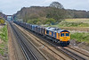 """3rd Apr 08:  The Mountfield to Southampton empty Gypsum containers powered by 66717 """"Good Old Boy"""""""