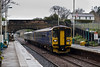 25th Apr 08: As the rain falls 153360 & 155346 slow for the Pannal stop with a service to Leeds