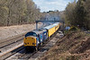 15th Apr 08:  Today's 1Q14 Serco headed by 37608 rounds the curve through Pirbright. 37611 was on the tail