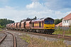 14th Aug 08:  For the 3rd day in a row 60094 powers the Whatley to St Pancras stone. Captured here at Padworth