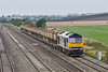 27th Aug 08: A further bonus was that the 'Q' WO Appleford to West Drayton loaded PGS's ran  with 60056 on the point