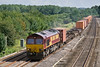14th Aug  08: The 13.10 Southampton to Birch Coppice Intermodal and 66169