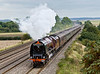 27th Aug 08:  6233 makes a fine sight as it races at top speed past Cholsey Manor Farm with the Cathex to Worcester from Victoria