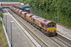 21st Aug 08:  66069 in charge of the 'Saintly Stones' the 6M20 from Whatley to St Pancras