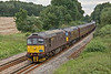 23rd Aug 08: 33207 & 205 charge through Silchester on their way back to Crewe from Weymouth