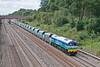 21st Aug 08: With the revised green still looking very bright 59001 heads 7A17 Merehead to Acton through Ruscombe