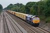 26th Aug 08:  Diverted via the GWML 66724 heads a Hams Hall to Felixtowe liner through Shottesbrooke