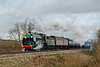 9th Dec 08: With the light now collapsed 30777 'Sir Lamiel' in charge of the Cathedrals Express to Salisbury