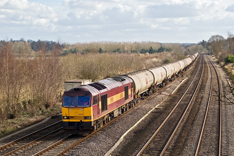 27th Feb 08: 60051 powers the Theale to Lindsey empty Murco tanks (6E55)
