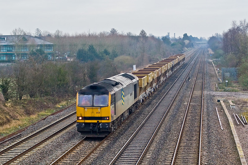28th Feb 08:  60054 takes the PGA's back to Appleford from West Dayton (6A50). Breadcroft Lane, Maidenhead