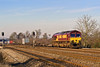 11th Feb 08:  Bardon Hoppers in the hands of 66507 head west through Lower Basildon.