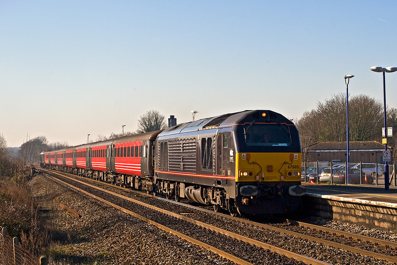 11th Feb 08:  The returning ECS from the Ruggex shuttles races through Twyford