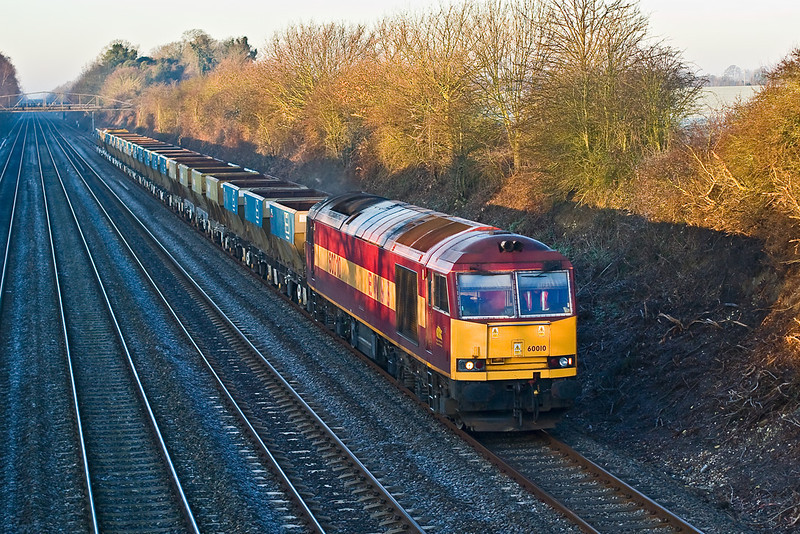 9th Feb 08:  60010 wheels the 07.50 (6A13) from Theale to Acton hoppers through Shottesbrooke