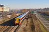 11th Feb 08:  The wider view. 458003 & 4 leave Bracknell for Reading