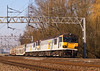 18th Feb 08: 92034 & 015 on 6A42 from Warrington Arpley to Wembley pass Heamies Farm north of Stafford