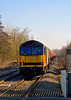 16th Feb 08: 60059 'Swinden Dalesman' on 6B33 from Theale to Robeston via the B & H due to a blockade near Swindon