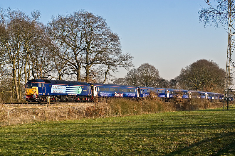 12thFeb 08:  47712 on the return leg of the 'Stobart Pullman' at Lyne