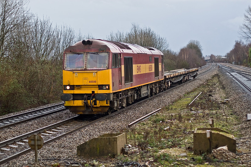 10th Jan 08:  The objective of the visit, 60500 taking a holiday 'Down South' trundles along on it's way to Hinksey with the afternoon return Departmental from Eastleigh