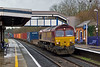 10th Jan 08:  66188 and 4O21, 12.19 Washwood Heath to Southampton Intermodal