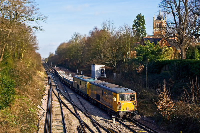 27th Jan 08:  73206 & 208 take the Chertsey line at Virginia Water