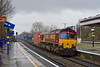 10th Jan 08:  4M36 intermodal to Birch Coppice produces 66002 as the rain continues to pour