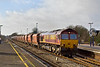 14th Jan 08:  66121 leads the 10.15 Whatley to St Pancras through Twyford