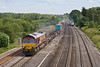 4th Jul 08:  Race No 2:  Adelante 180108 is rapidly catching 66059 as she trundles 4M36 to Birch Coppice.