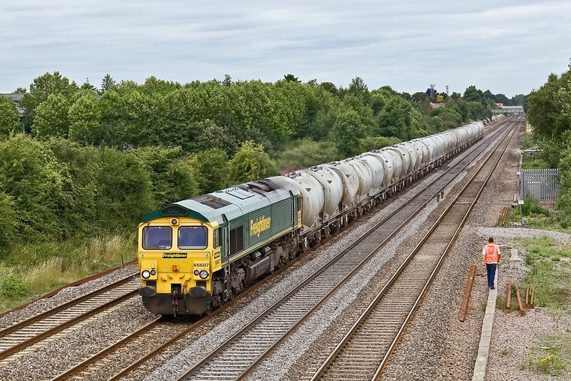 14th Jul 08:  Running in it's later path is 66607 and 6V94 loaded cement from Earles to Theale