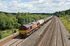 4th Jul 08:  the Theale to Lindsey empty oil tanks and 66061 at Lower Basiildon